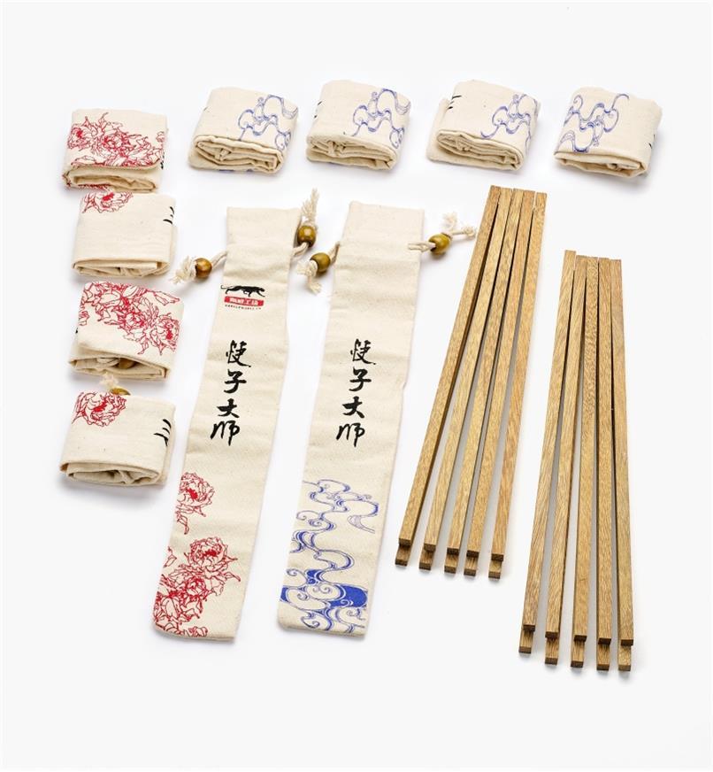 17N1607 - 10pr Wenge Chopstick Blanks & Bags