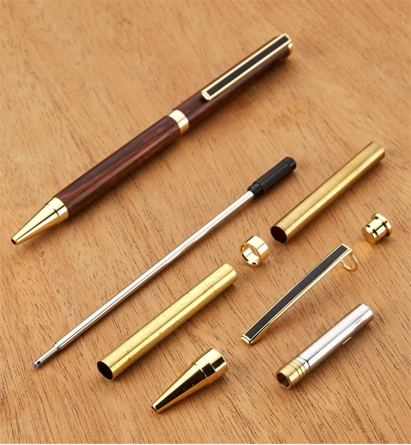 88K7710 - Slim Ballpoint Pen, Gold