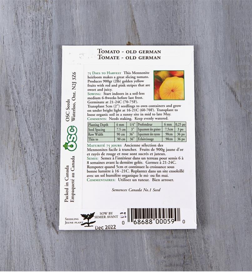 SD119 - Tomato, Old German