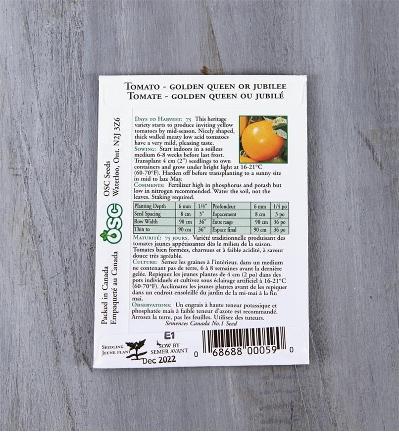 SD120 - Tomato, Golden Queen