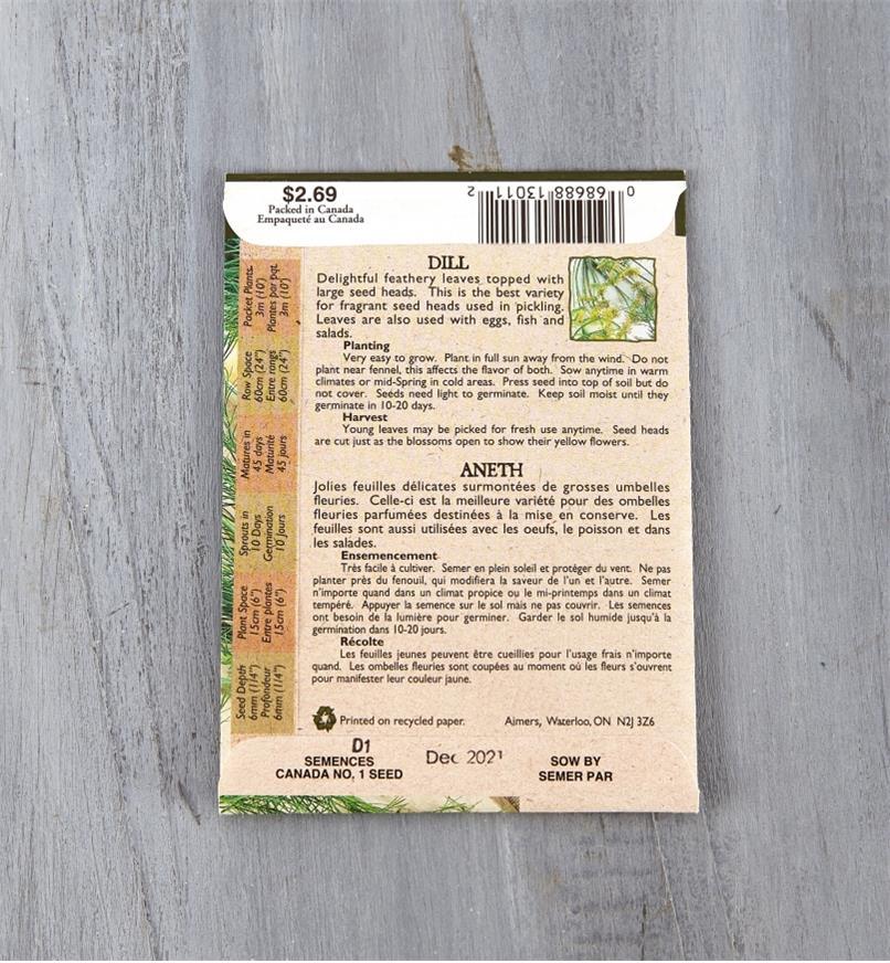 SD128 - Organic Dill