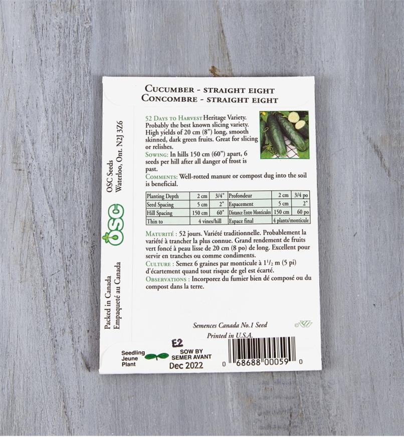 SD136 - Cucumber, Straight Eight