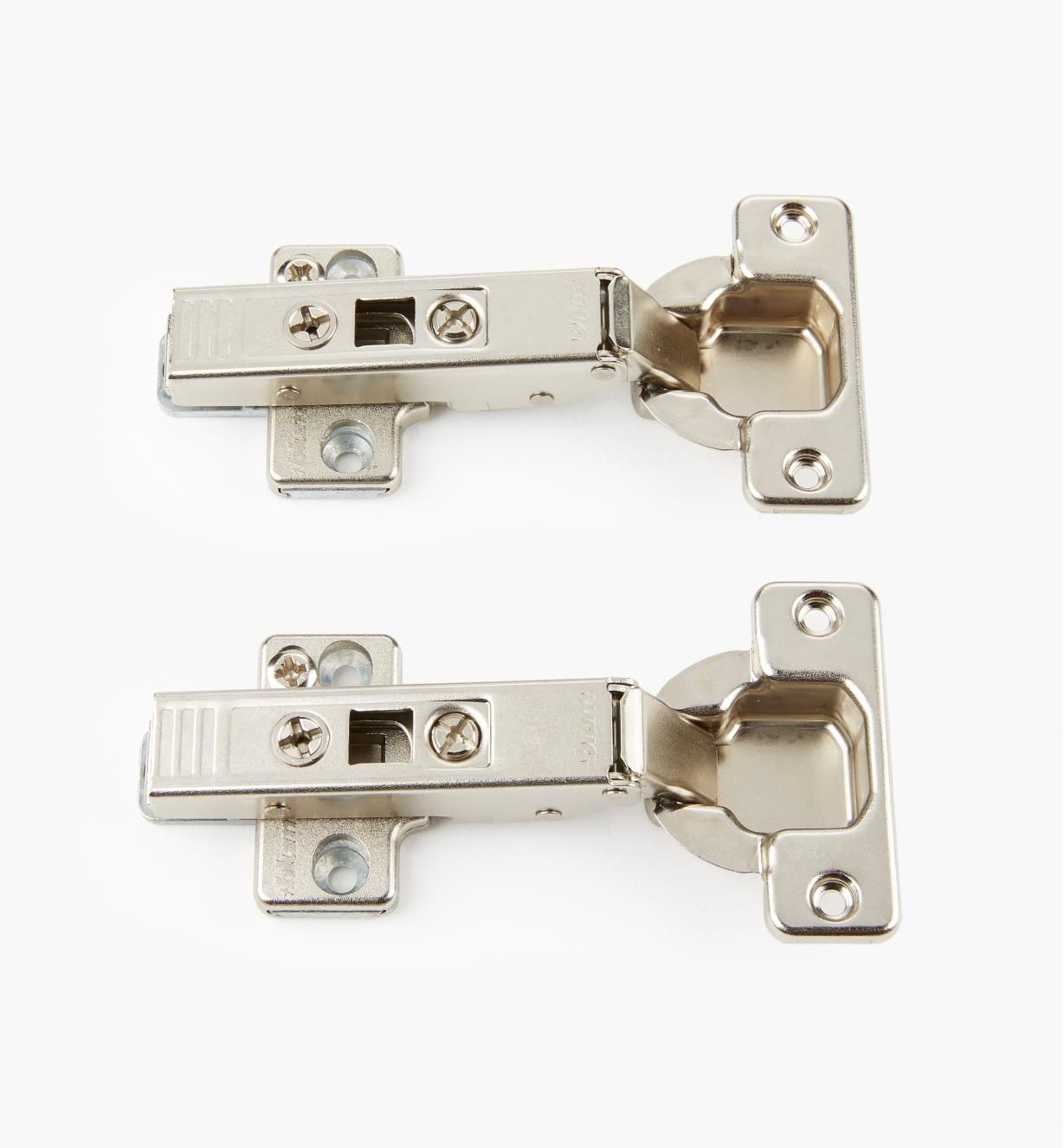 00B1510 - 107° Overlay Clip-Top Hinges, pr.