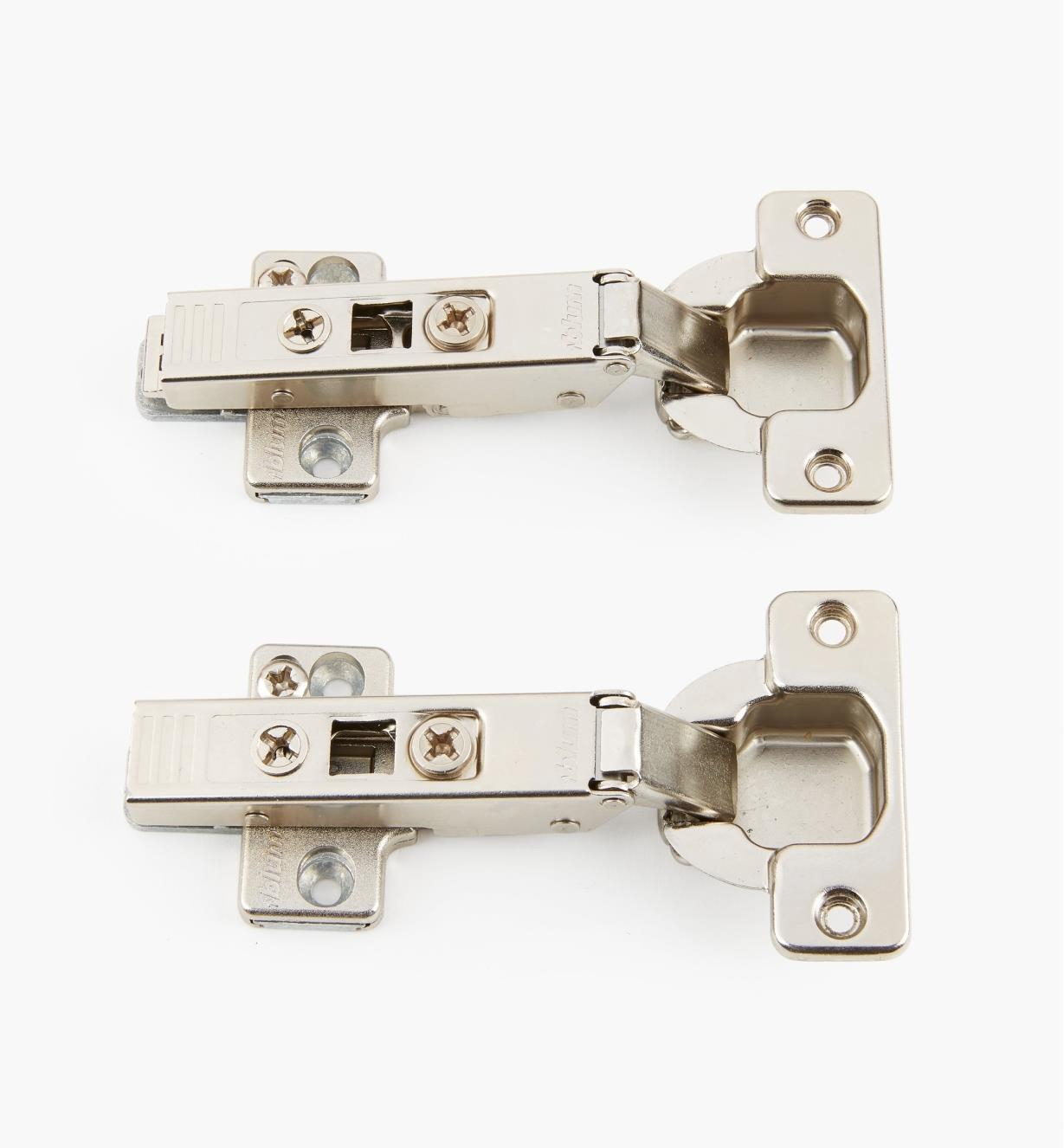 00B1520 - 120° Overlay Clip-Top Hinges, pr.