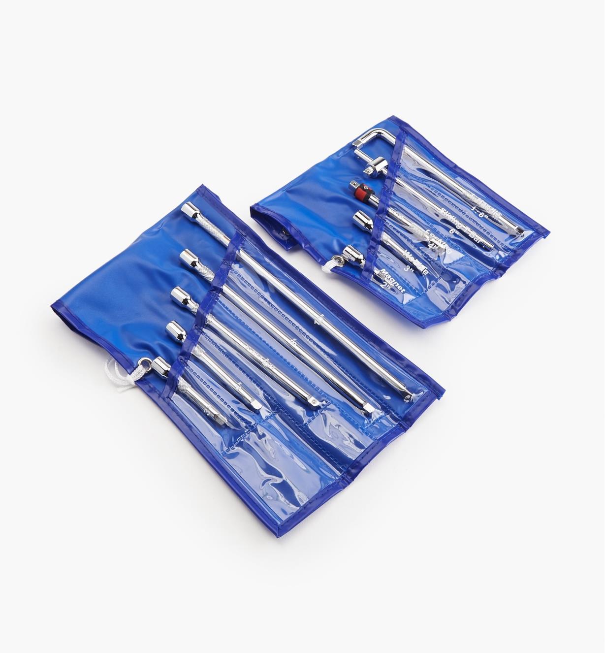 17K0165 - Ensemble de rallonges et d'accessoires pour clé à douille, 1/4 po, 10 pièces