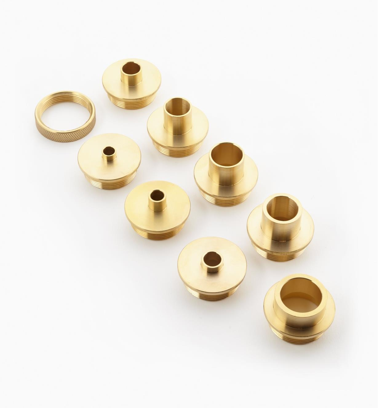 46J9120 - Set of 8 Guides & Ring Nut