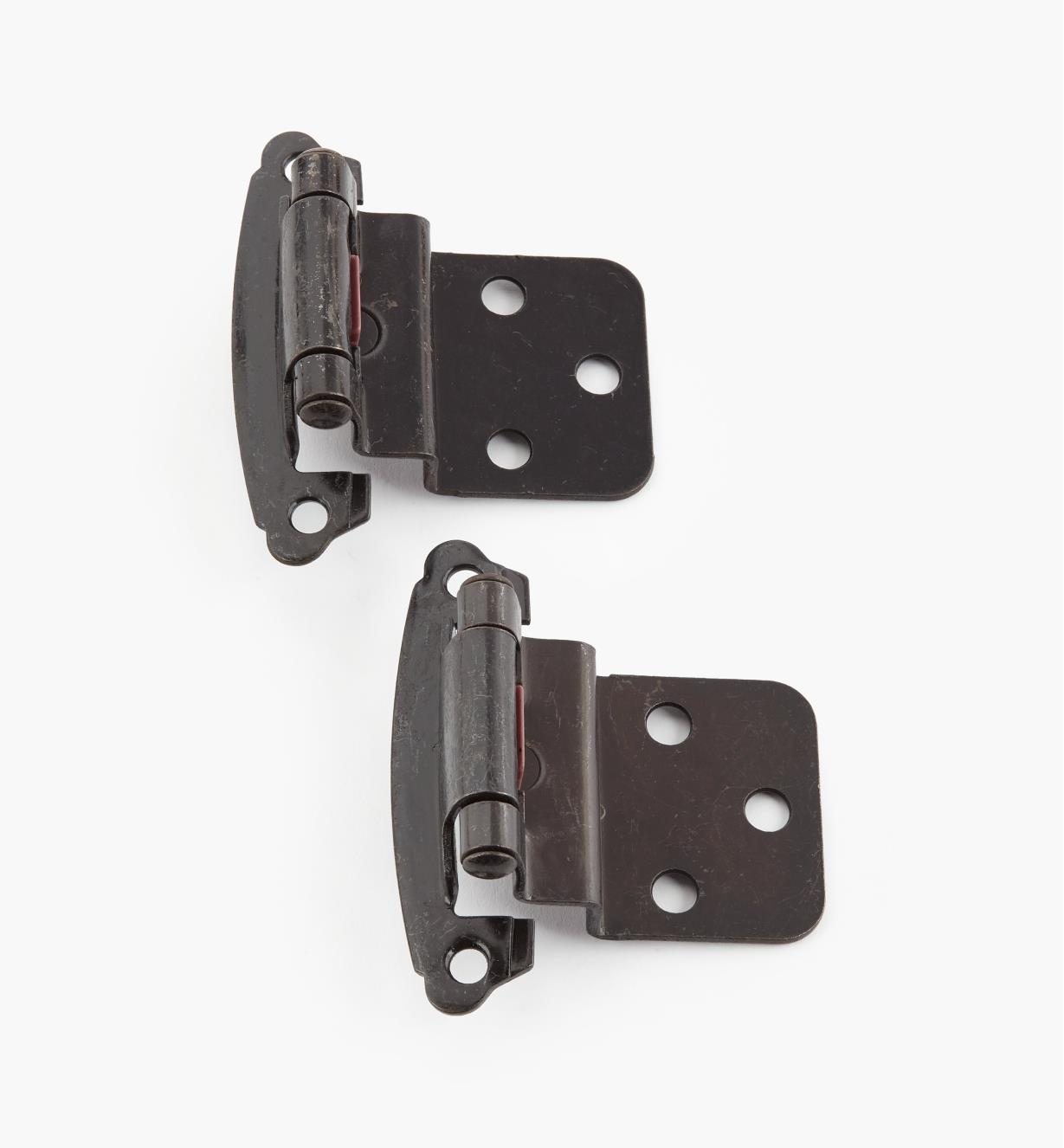 "02H1362 - 3/8"" Dark Iron Offset Self-Closing Hinge, Pair"