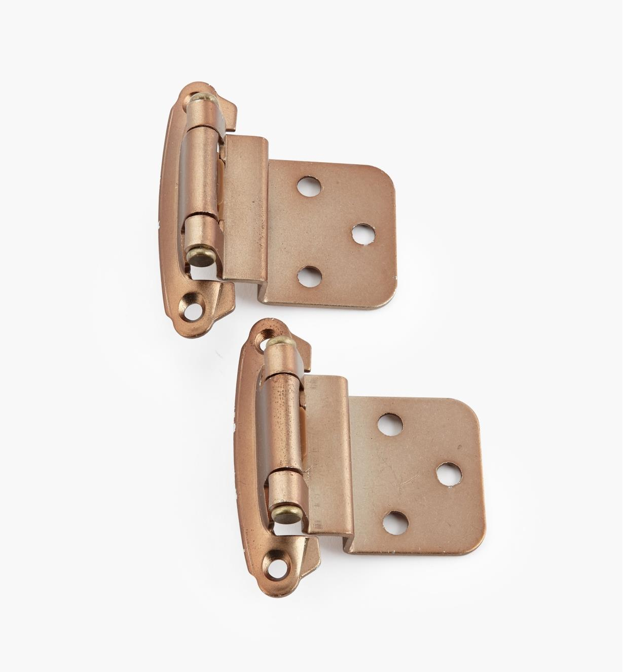 "02H1364 - 3/8"" Satin Bronze Offset Self-Closing Hinge, Pair"