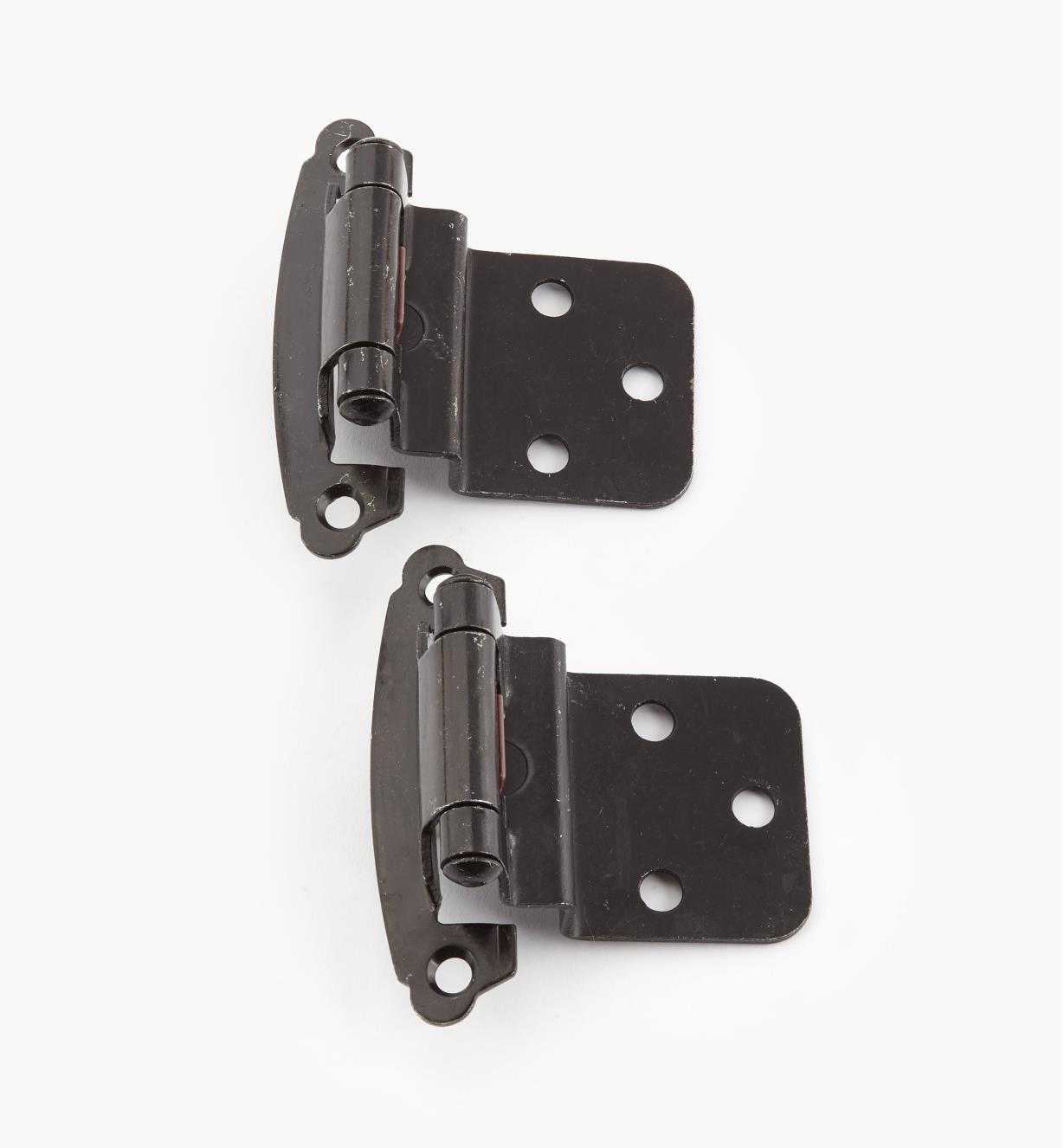 "02H1366 - 3/8"" Pewter Offset Self-Closing Hinge, Pair"