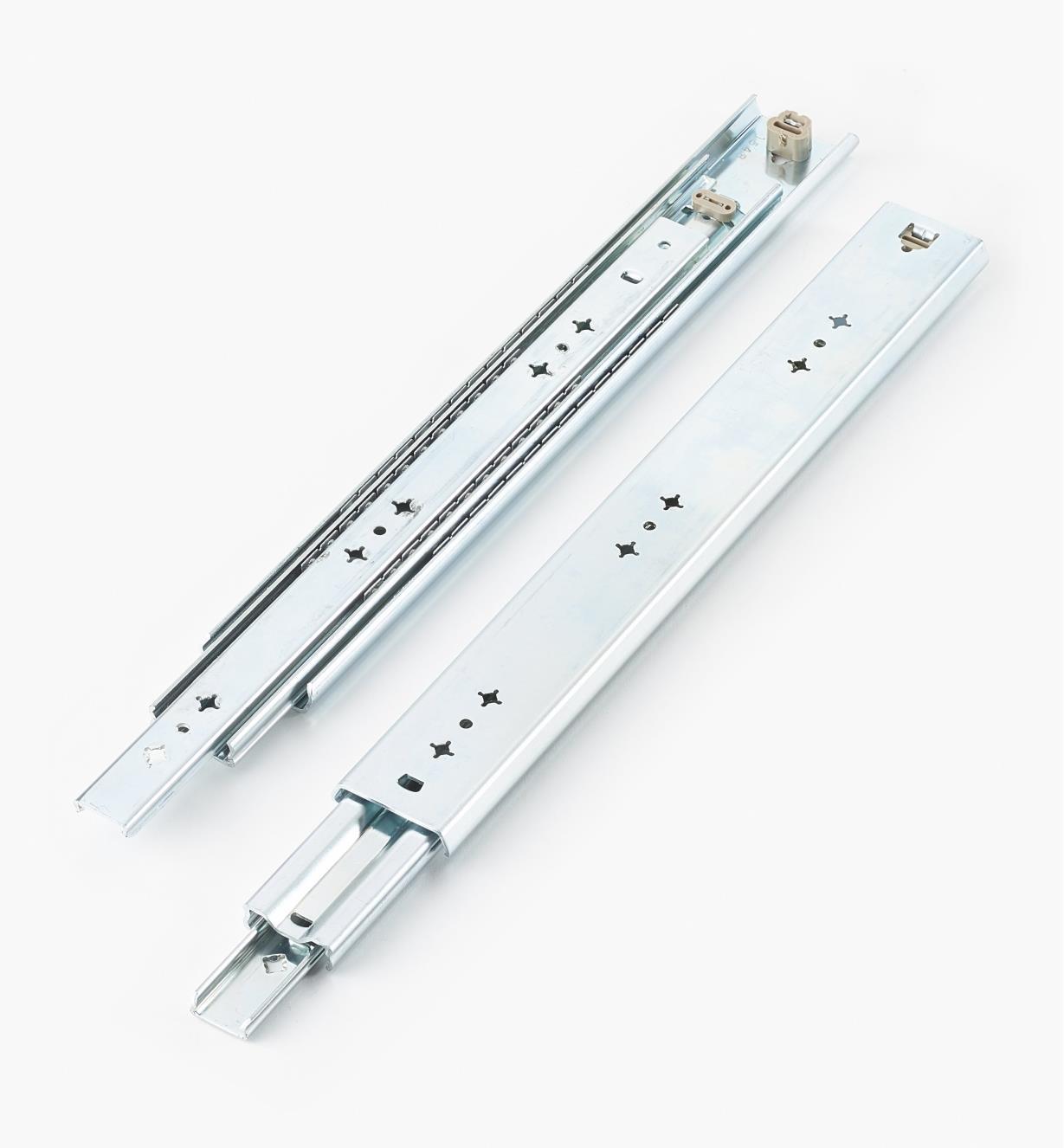 02K3216 - Coulisses de 16po (400mm) à extension complète pour charge de 200lb, la paire