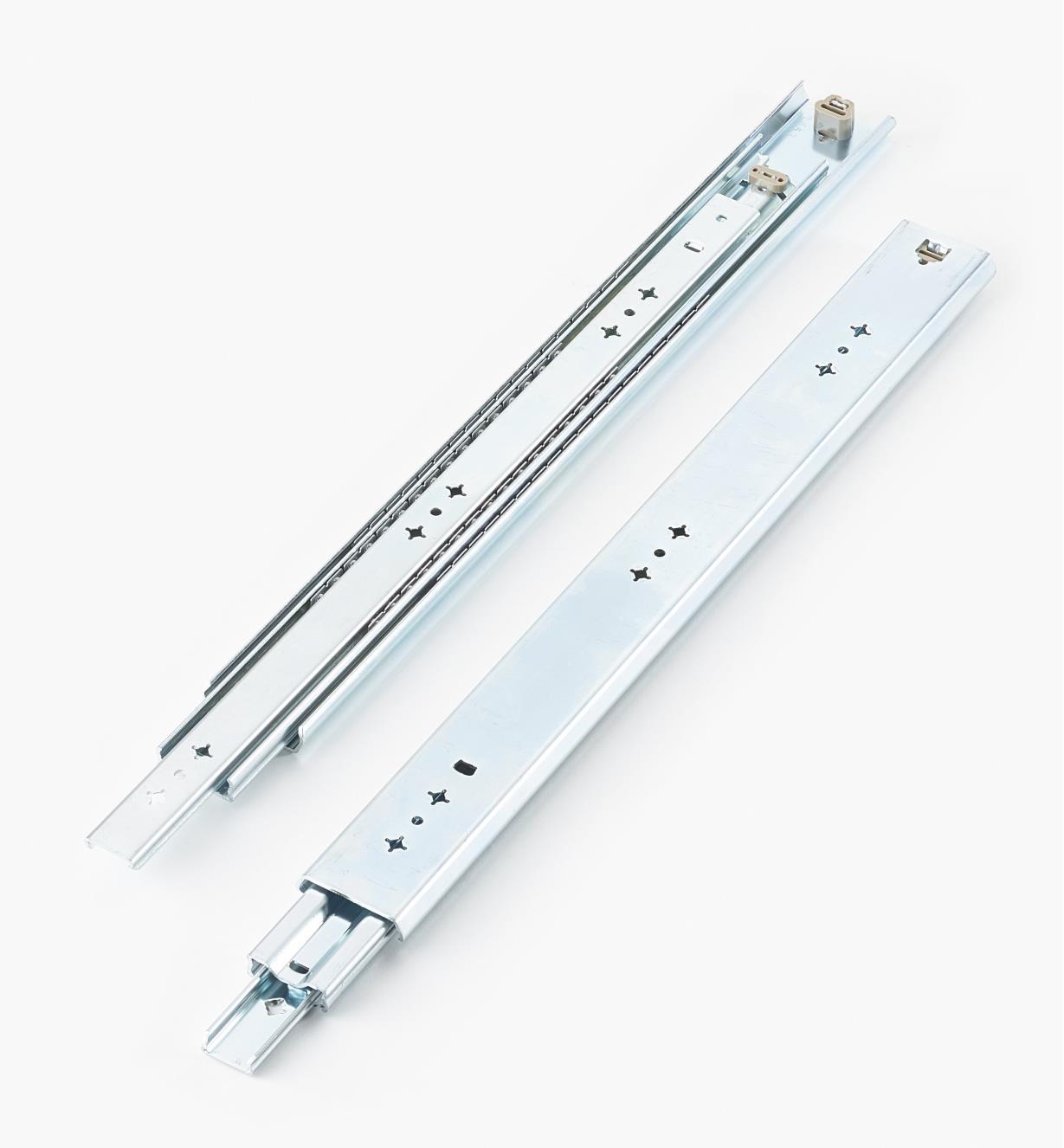 02K3220 - Coulisses de 20po (500mm) à extension complète pour charge de 200lb, la paire