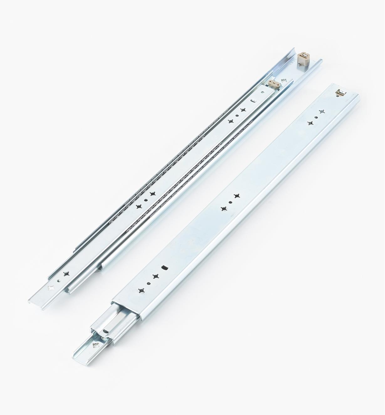 02K3222 - Coulisses de 22po (550mm) à extension complète pour charge de 200lb, la paire