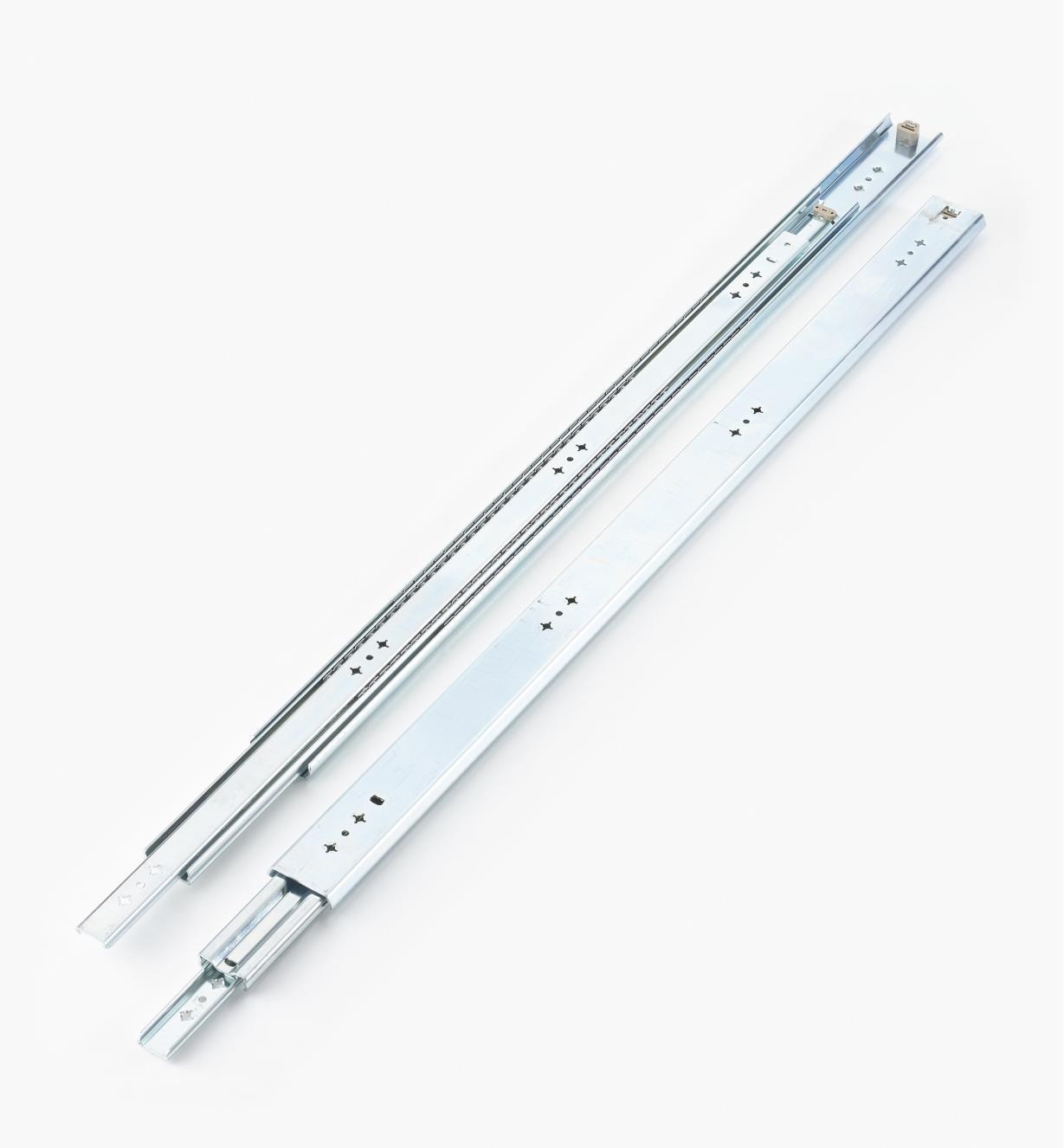 02K3236 - Coulisses de 36po (900mm) à extension complète pour charge de 200lb, la paire