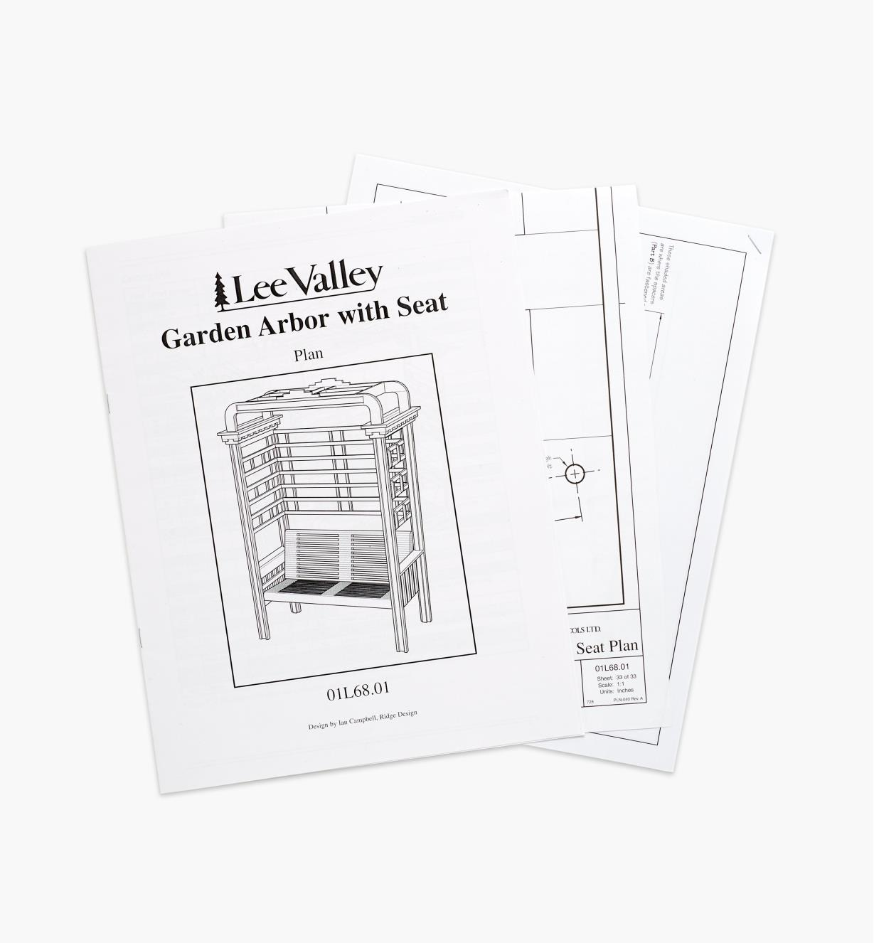 01L6801 - Arbor with Seat Plan