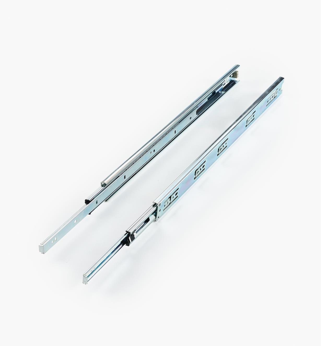 02K4222 - Coulisses de 22po à extension complète pour charge de 75lb, la paire