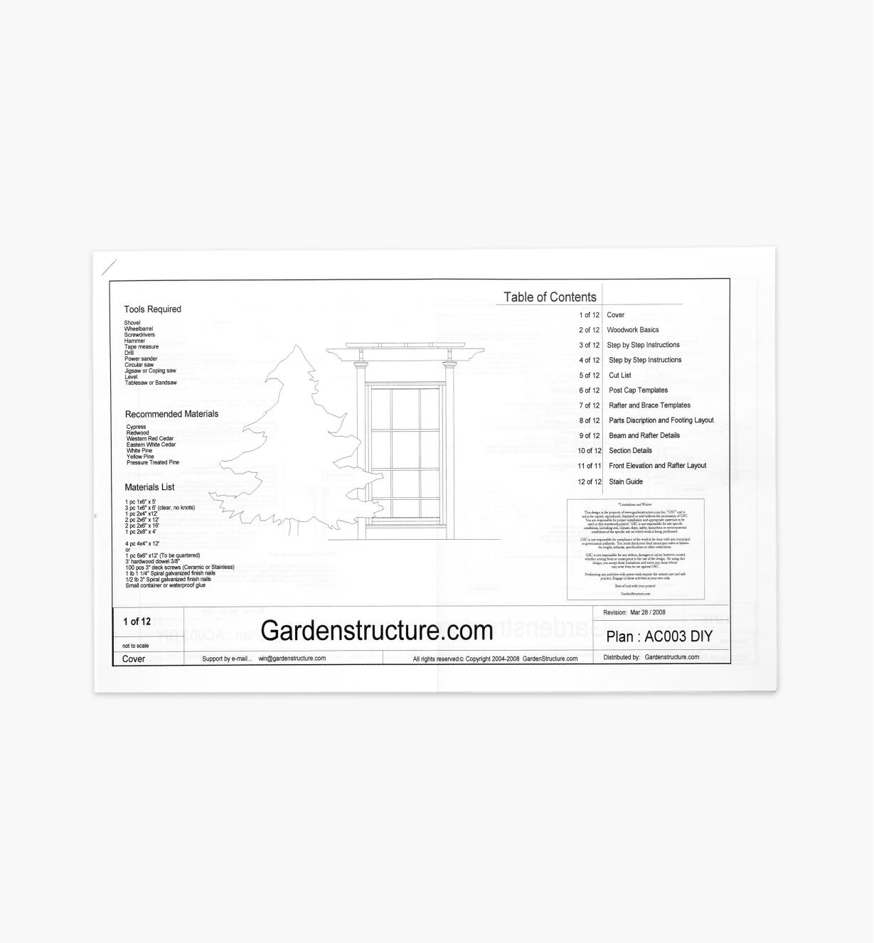11L0406 - Arts & Crafts Arbor Plan