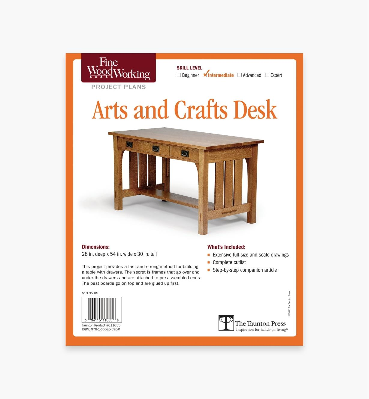 Arts And Crafts Desk Plan Lee Valley Tools