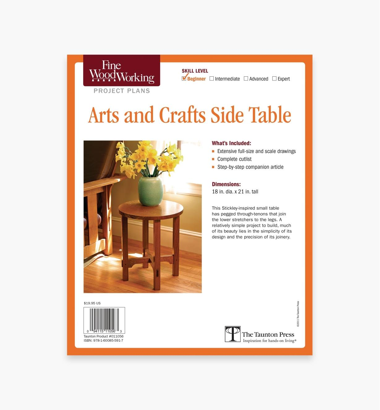73L2524 - Arts and Crafts Side Table Plan
