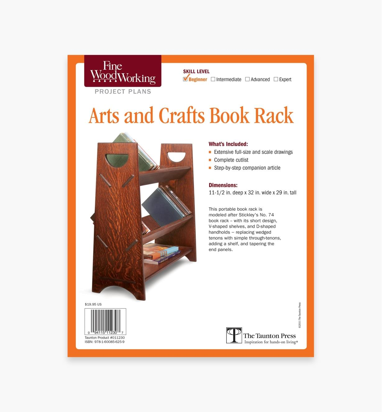 73L2528 - Arts and Crafts Book Rack Plan