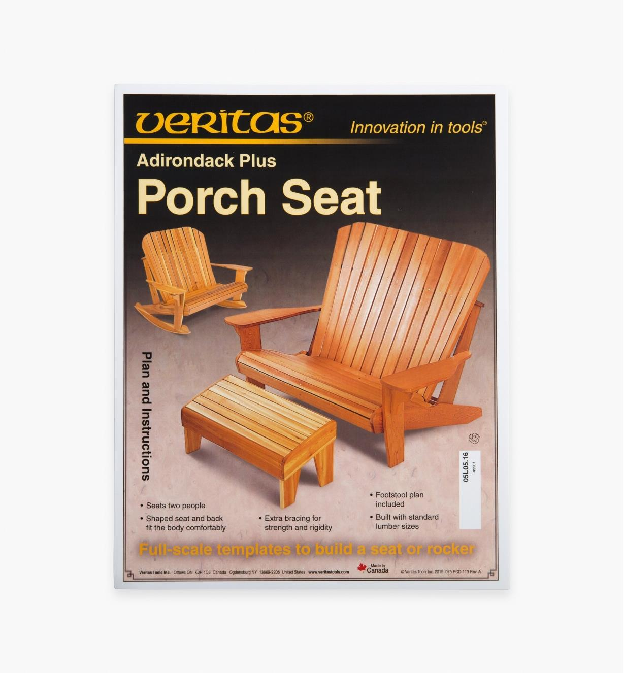05L0516 - Adirondack Plus Seat/Rocker Plan