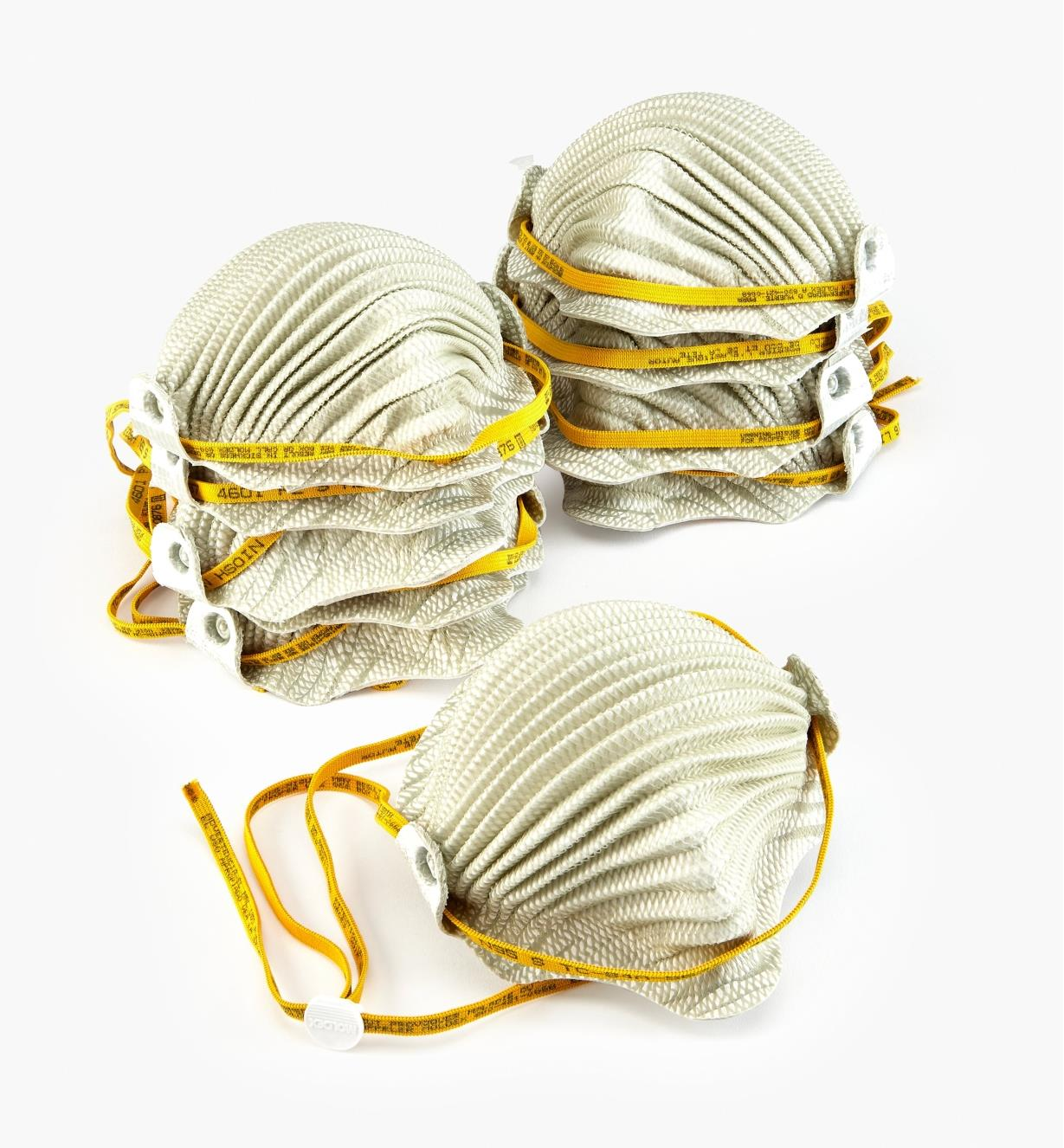 22R3611 - Airwave Adjustable-Strap Disposable Dust Masks, Small, pkg. of 10