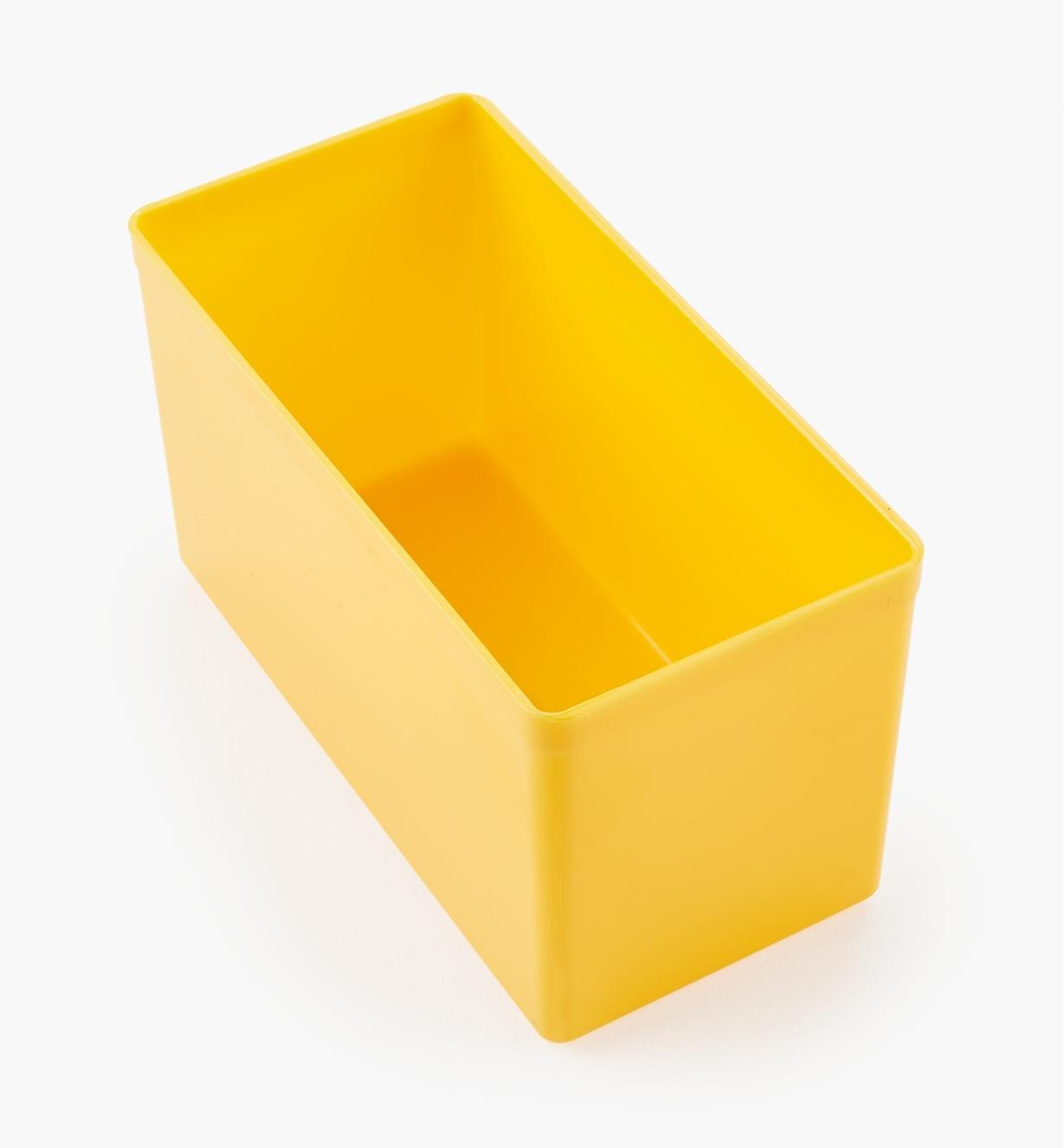 27K8022 - Godet jaune de 62 mm x 105 mm x 51 mm (2 7/16 po x 4 1/8 po x 2 po), l'unité