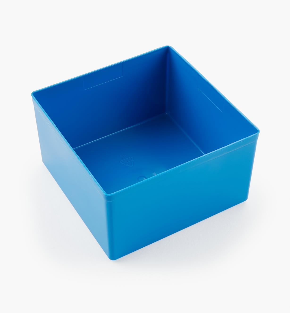27K8023 - Godet bleu de 62 mm x 105 mm x 105 mm (2 7/16 po x 4 1/8 po x 4 1/8 po), l'unité