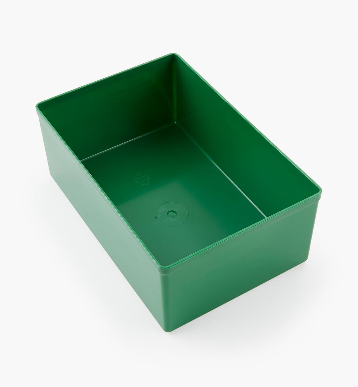 27K8024 - Godet vert de 62 mm x 159 mm x 105 mm (2 7/16 po x 6 1/4 po x 4 1/8 po), l'unité