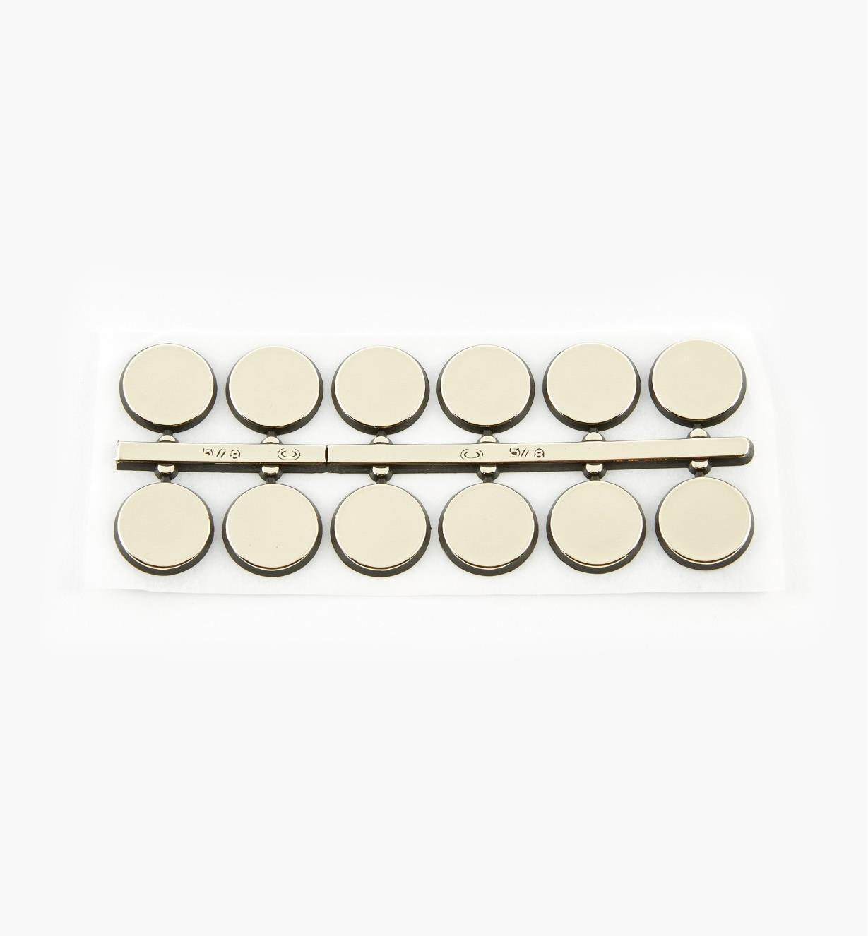 "46K5801 - 5/8"" dia. Dots Adhesive-Backed Numerals, set of 12"
