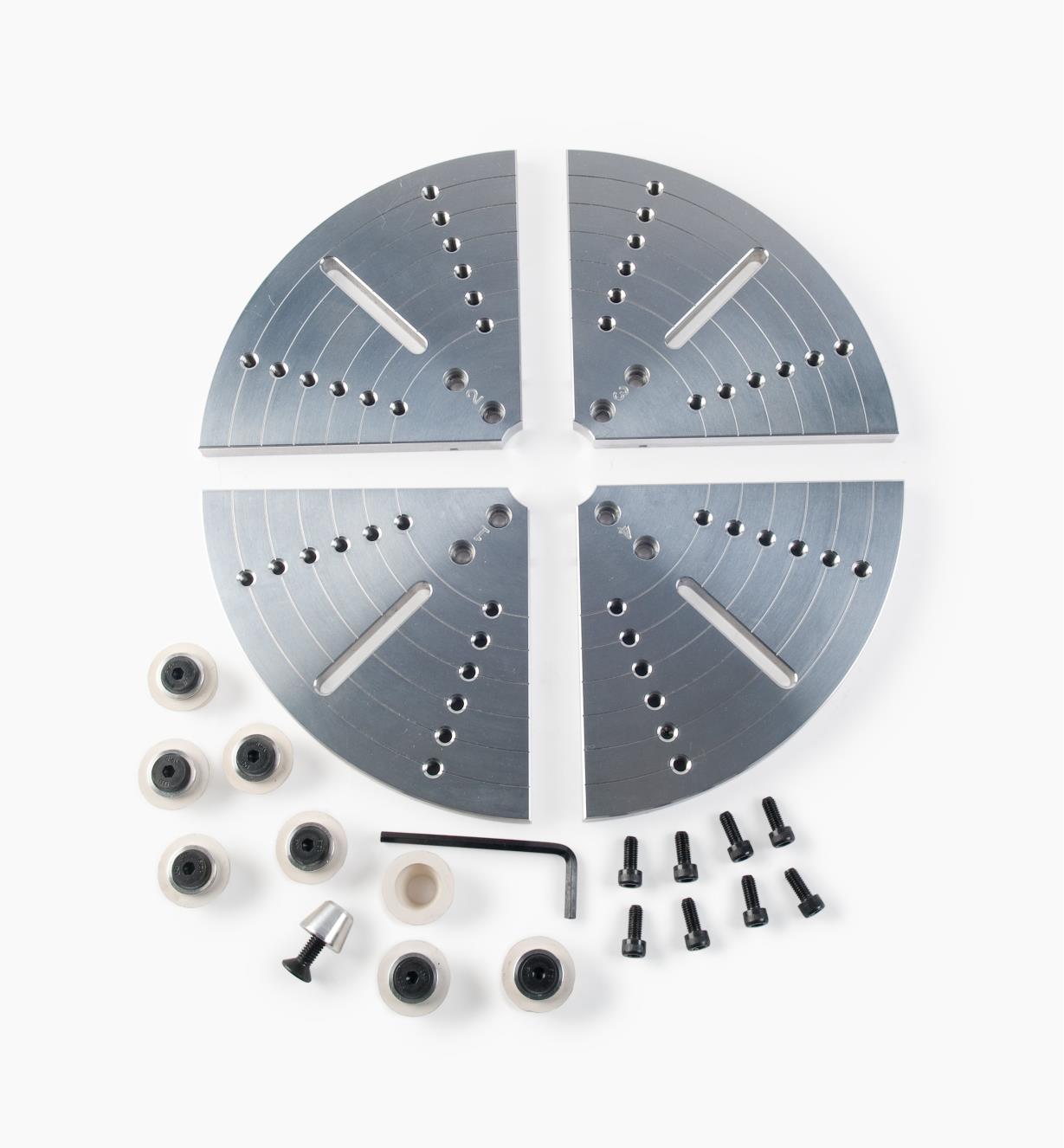 58B4086 - Jeu de mors plats en aluminium Axminster, 250 mm (9 13/16 po)