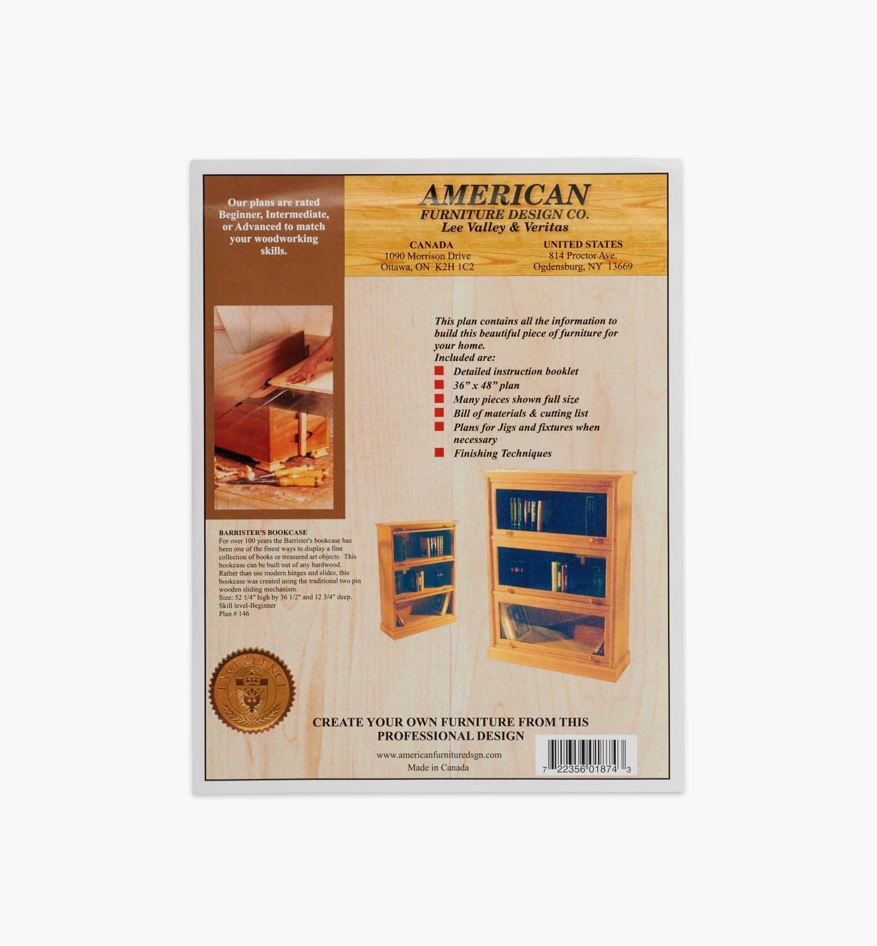 01L5002 - Barrister's Bookcase Plan