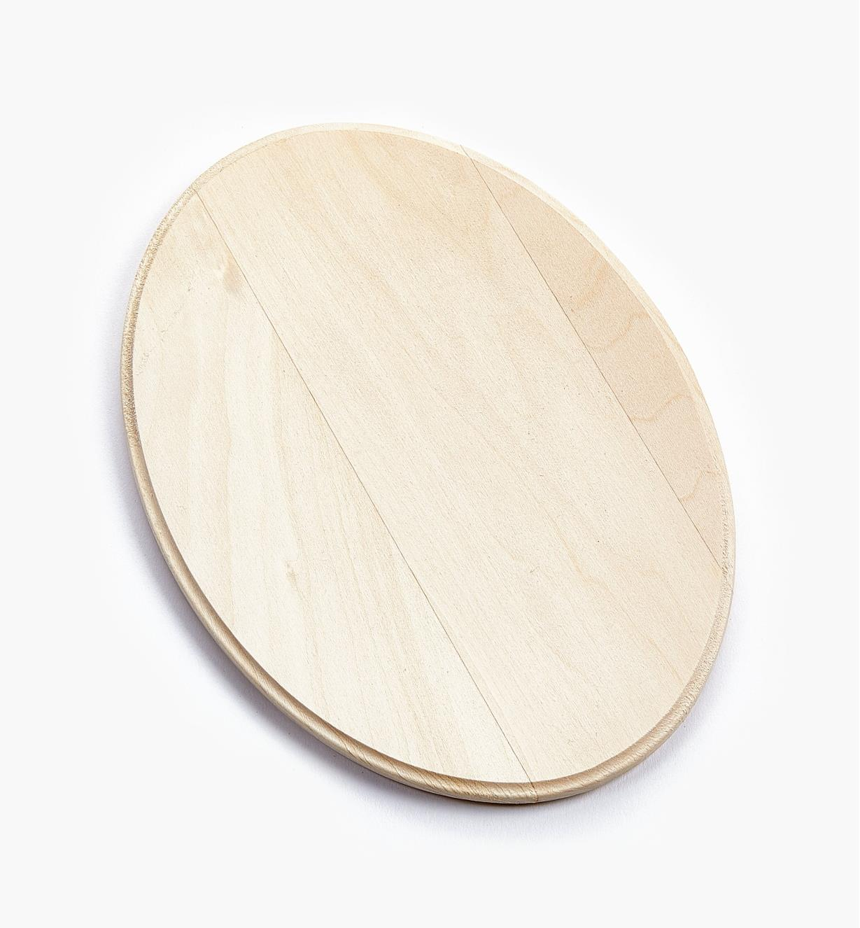 "38N1240 - 5"" x 7"" (3/8"") Oval Profiled-Edge Basswood Plaque, ea."