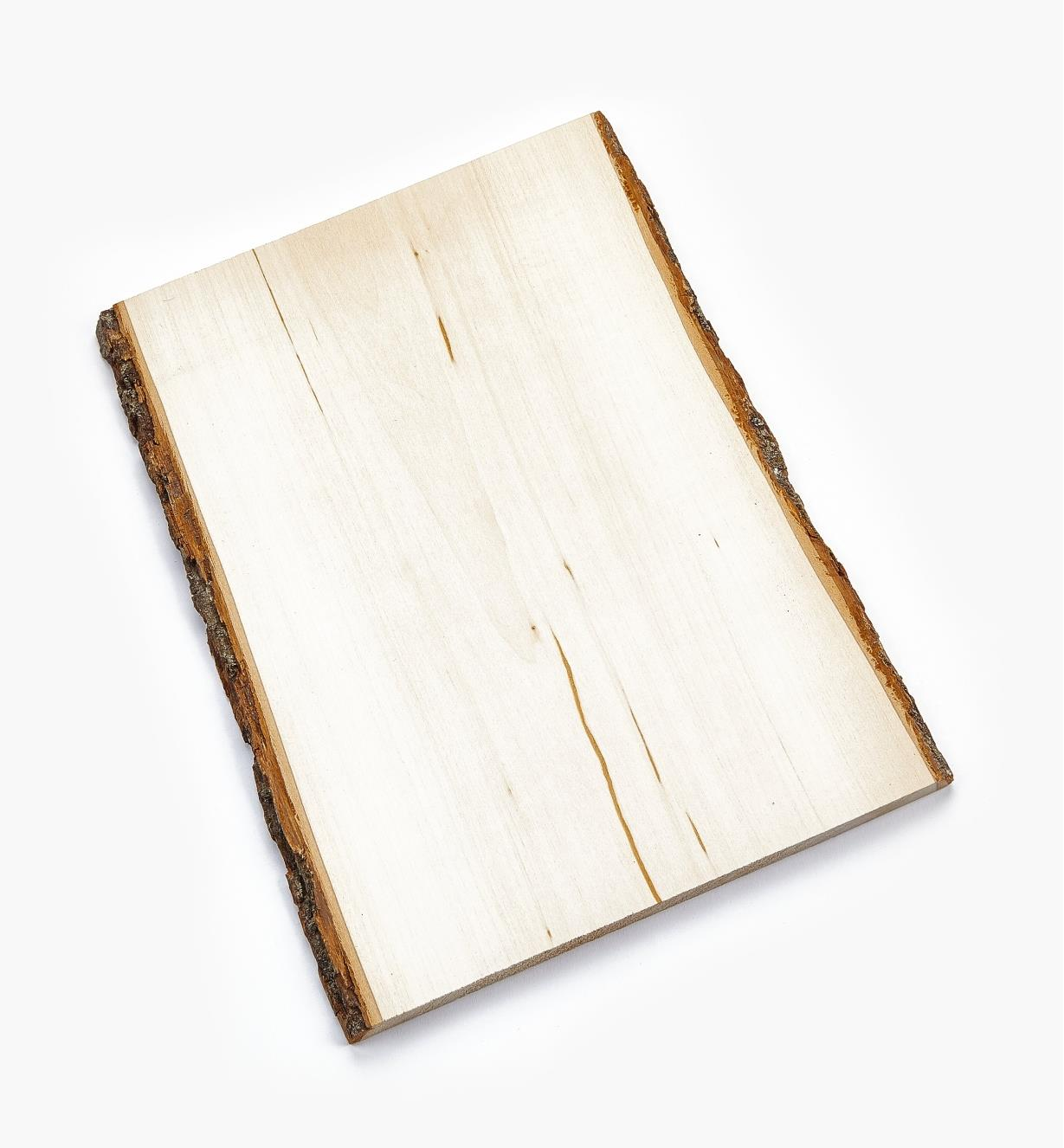 "38N1252 - 11"" × 16"" Rect. Live Edge Basswood Plaque"