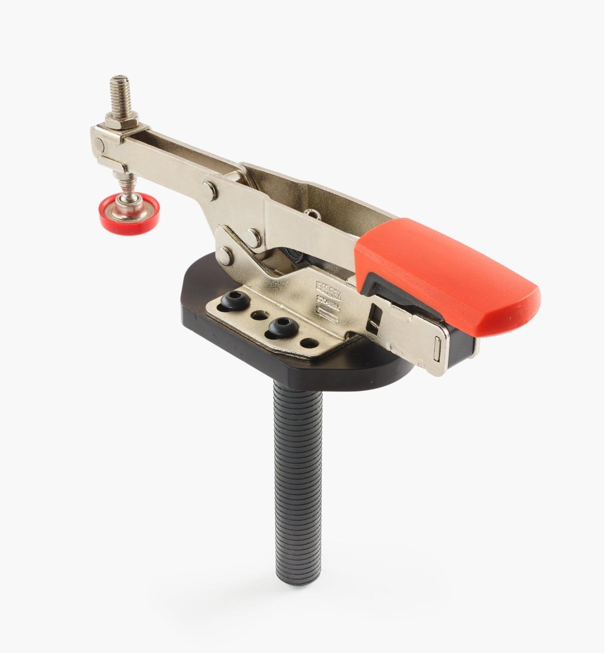 50F0111 - Sauterelle horizontale, modèle bas, avec plaque de fixation, tige de 3/4po