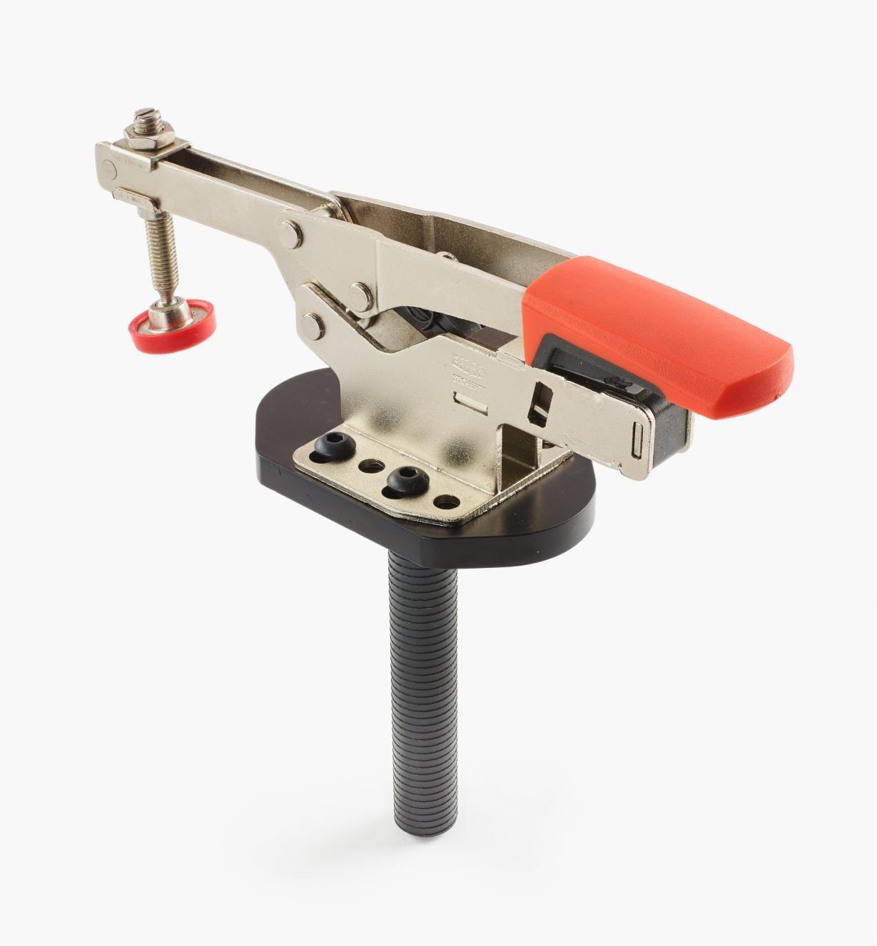 50F0112 - Sauterelle horizontale autoréglable, modèle haut, avec plaque de fixation, tige de 3/4po