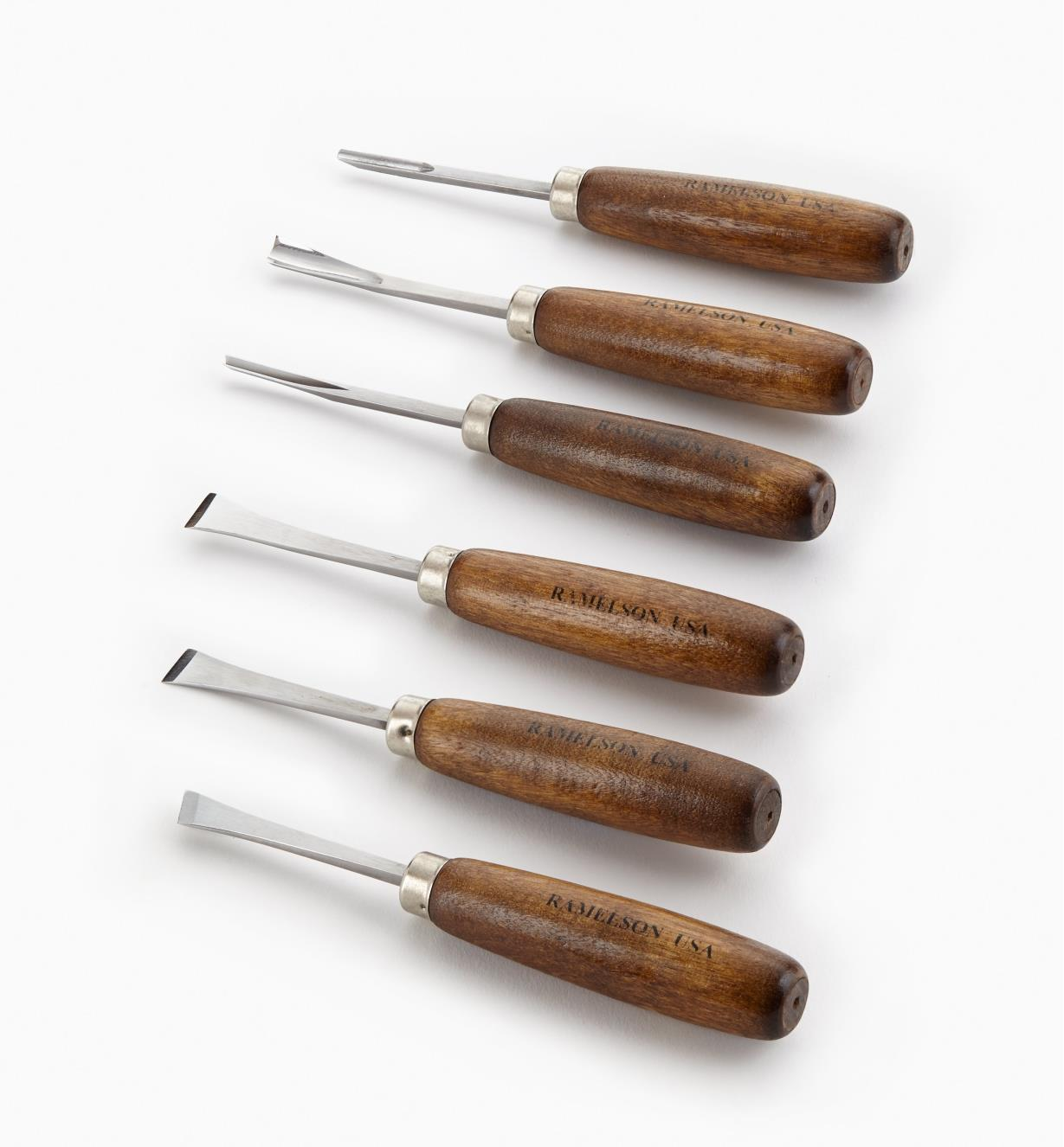 57D0501 - Jeu d'outils de sculpture de base, manches longs