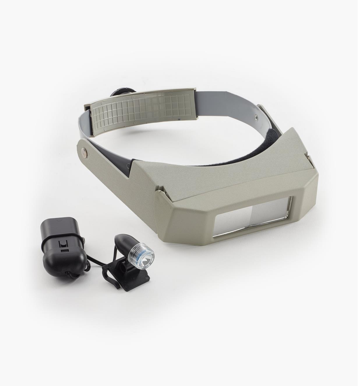 99K2030 - Ensemble loupe binoculaire et petite lampe pour visière