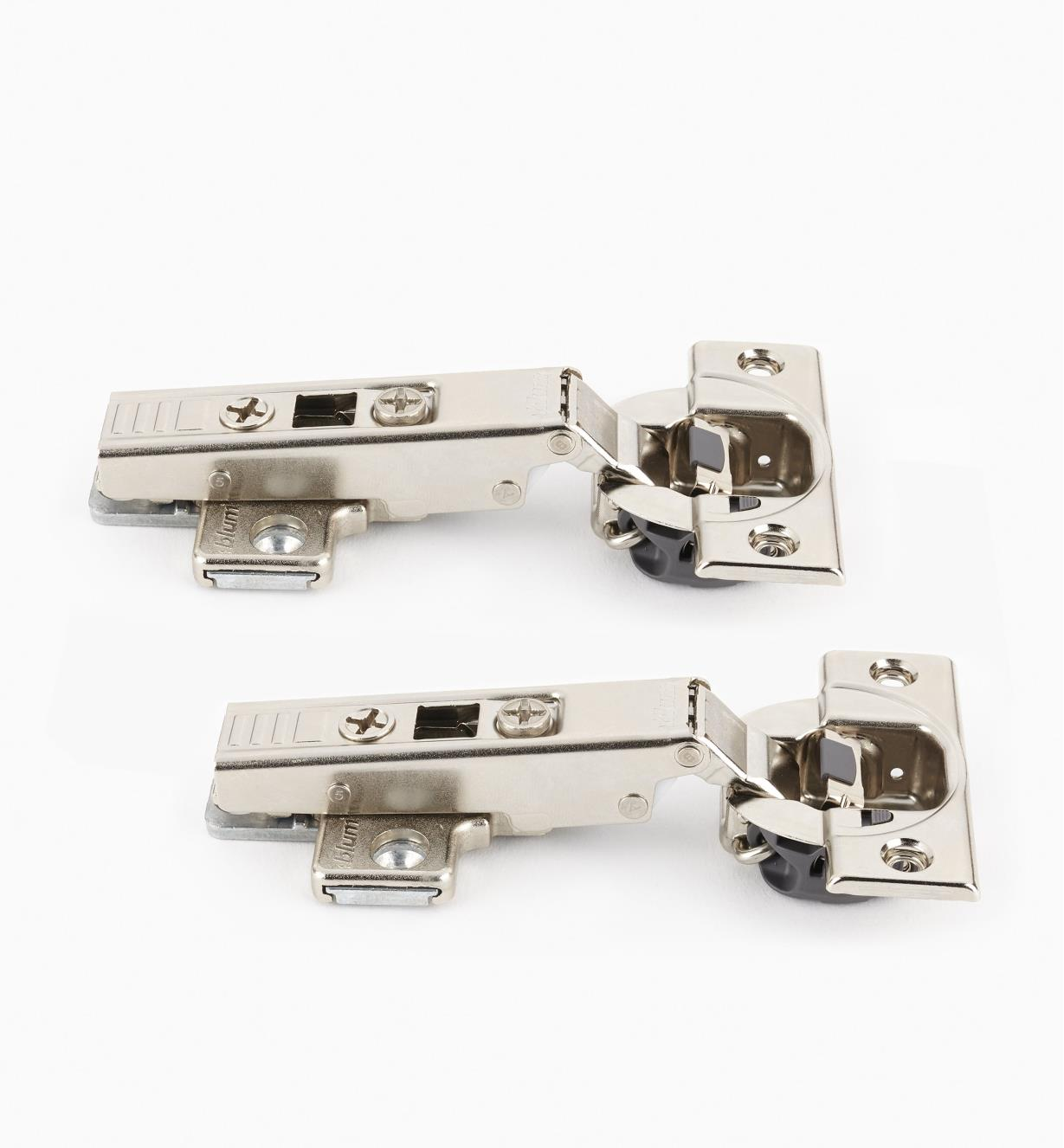 00B1801 - Blum Standard 110° Soft-Close Clip-Top Overlay Hinges, pr