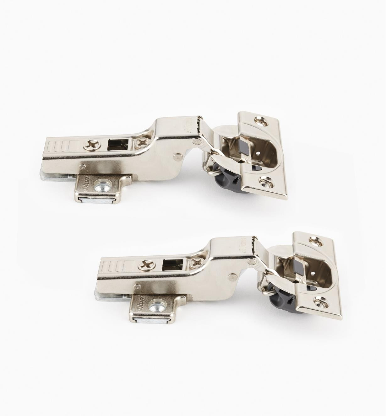 00B1802 - Blum Standard 110° Soft-Close Clip-Top Half Overlay Hinges, pr