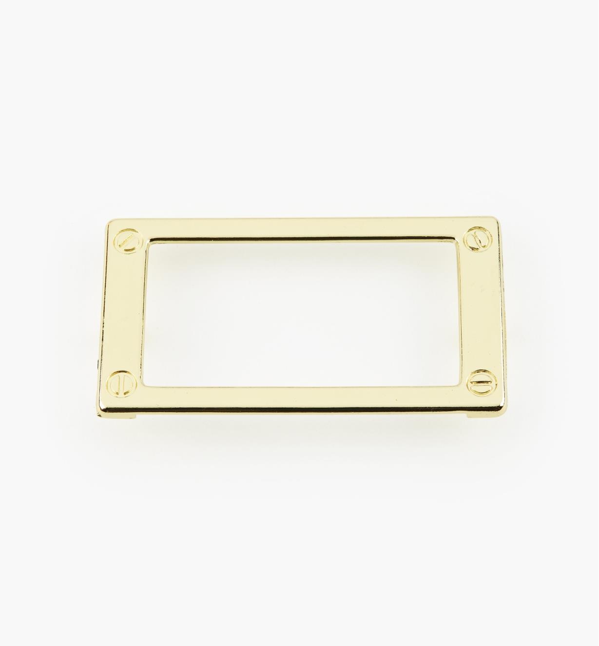 01W3510 - Porte-étiquette en zinc coulé, plaqué laiton, 79 mm
