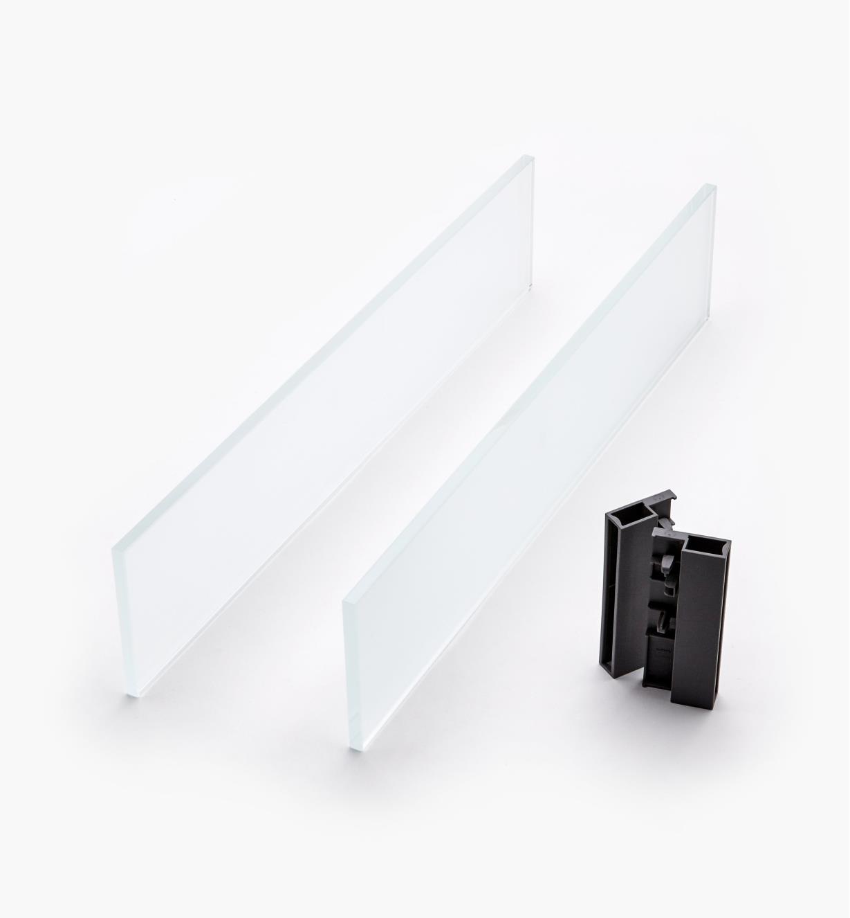 02K2846 - Glass Insert Panels for Blum Tandembox Antaro Soft-Close Type D 450mm Drawer Kit