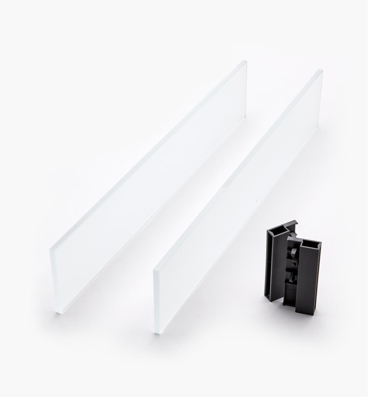 02K2851 - Glass Insert Panels for Blum Tandembox Antaro Soft-Close Type D 500mm Drawer Kit