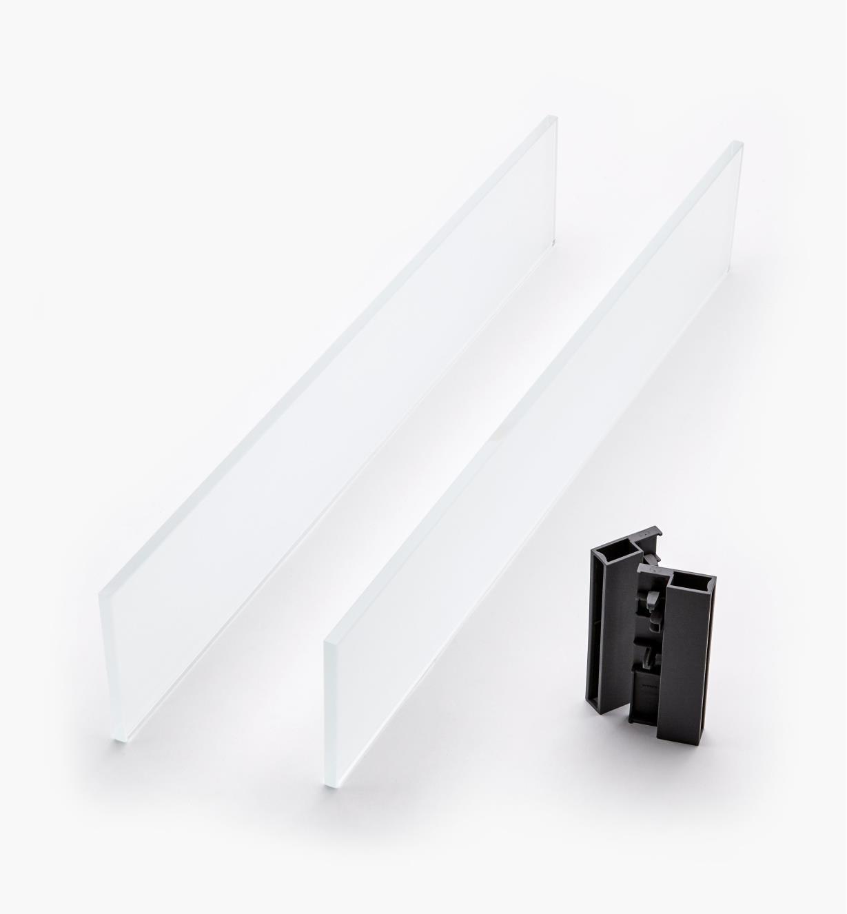 02K2856 - Glass Insert Panels for Blum Tandembox Antaro Soft-Close Type D 550mm Drawer Kit