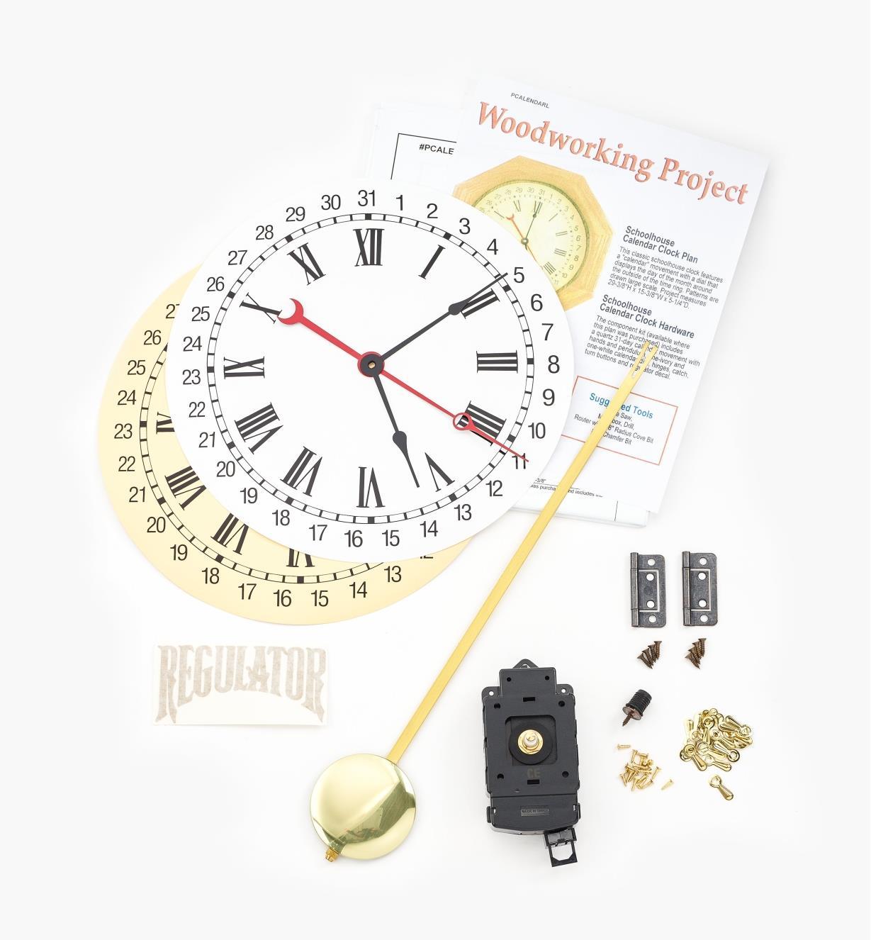 46K3404 - Calendar Clock Kit and Plan