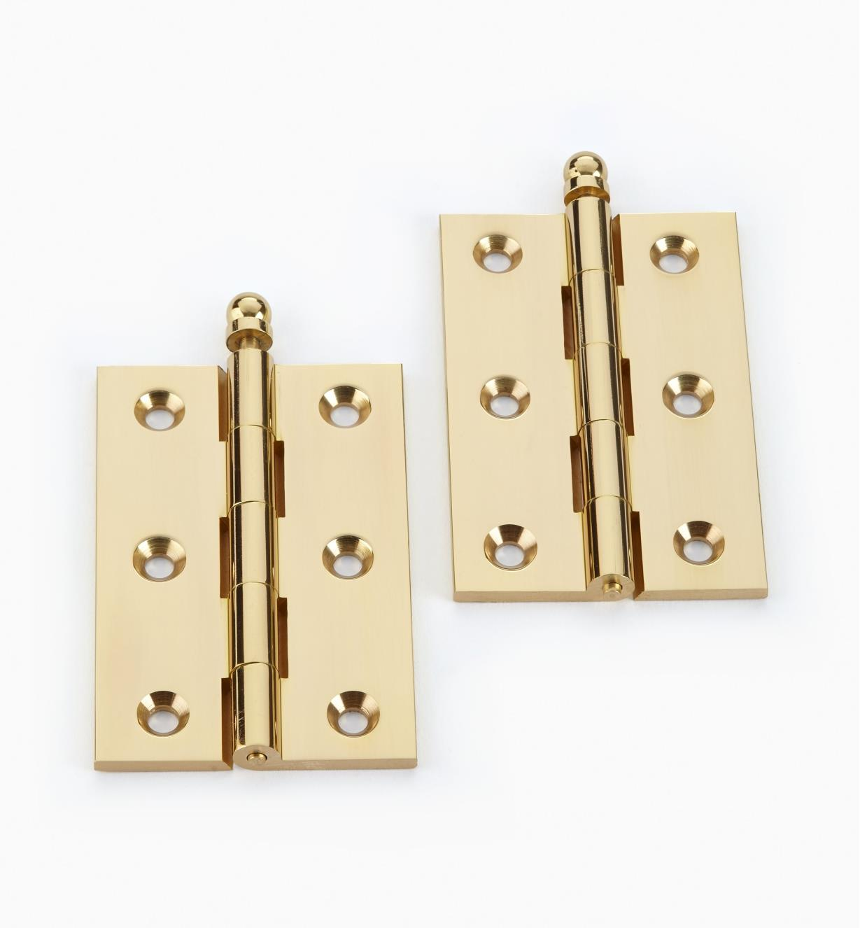 "00D0501 - 3"" x 2"" Brass Loose-Pin Door Hinges, pr."
