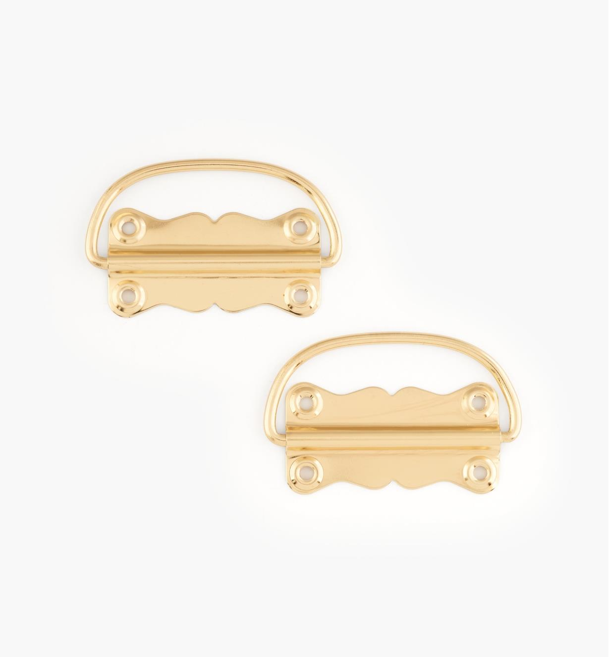 00D8170 - Brass Case Handles, pair
