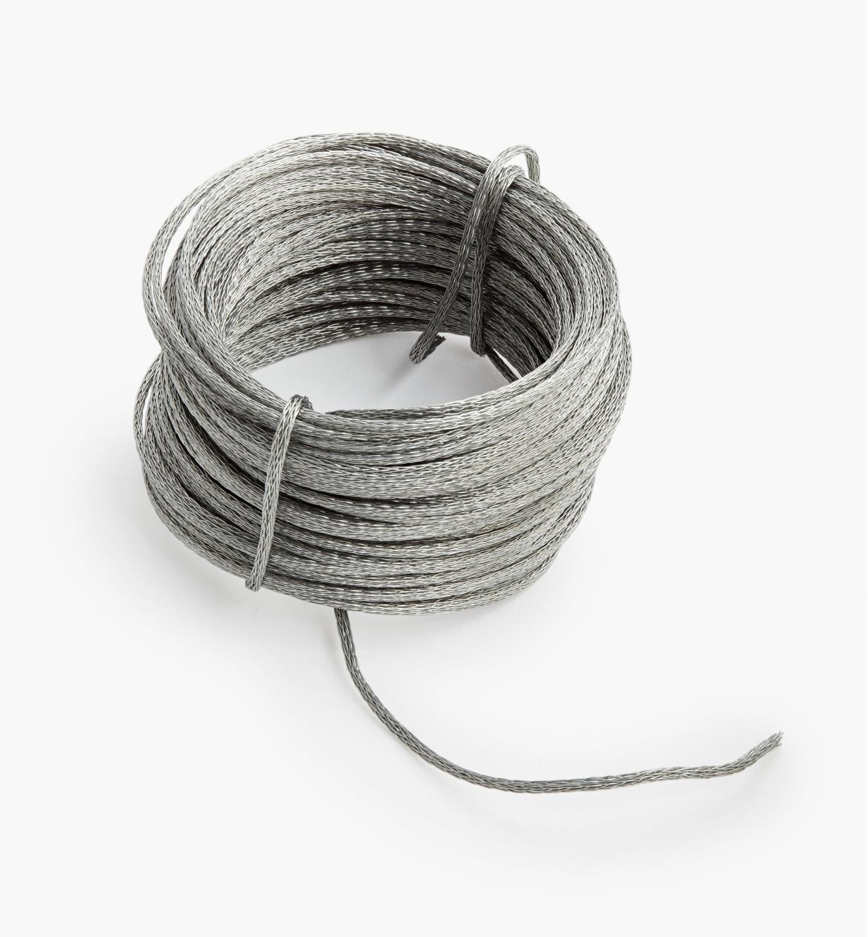00F1125 - Braided Stainless-Steel Picture Wire, 50'