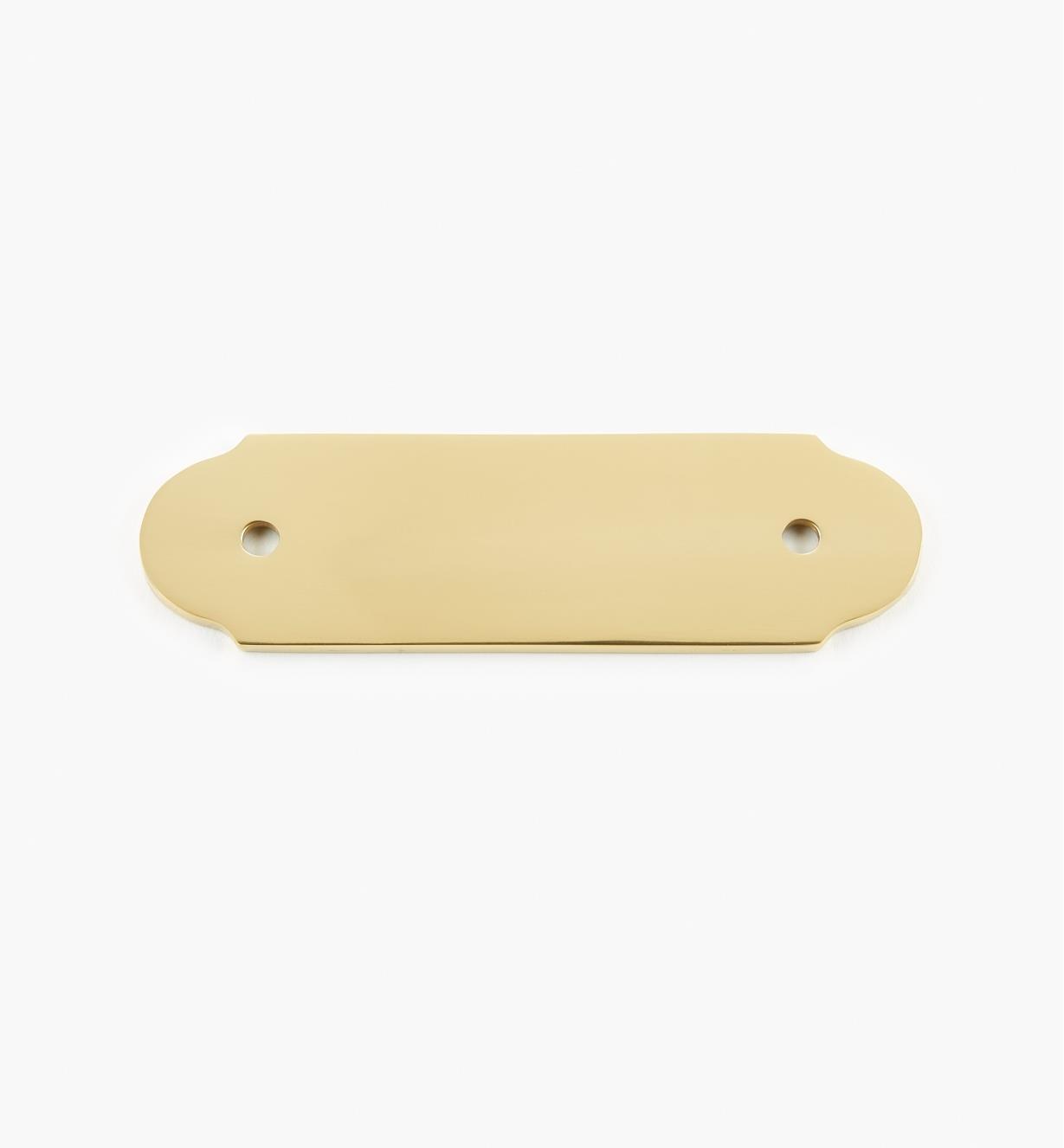 00W8832 - Platine unie pour poignée en laiton, 4 3/8 po x 1 5/16 po (3 po)