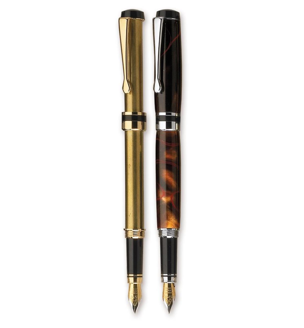 Composants pour stylo-plume à capuchon plat
