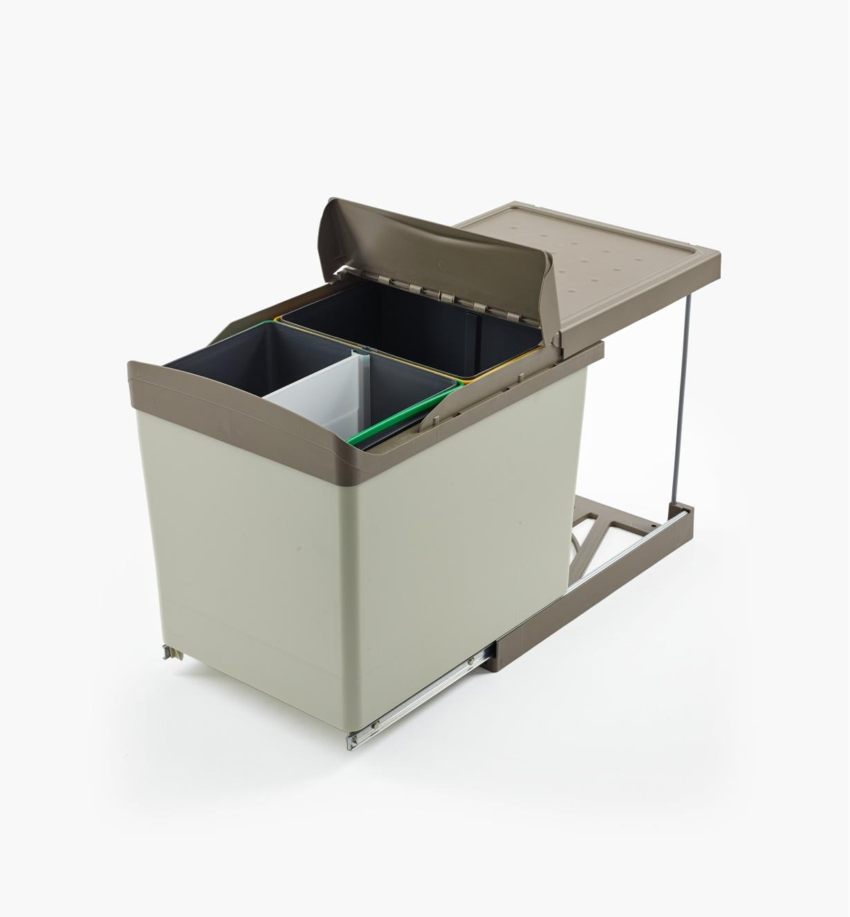 12K7825 - 42l Bottom-Mount Sliding Waste Container